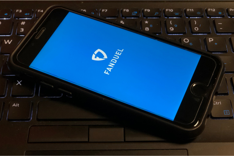 FanDuel logo on smartphone