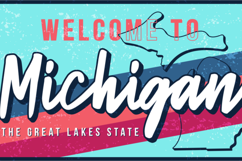 Welcome to Michigan sign art