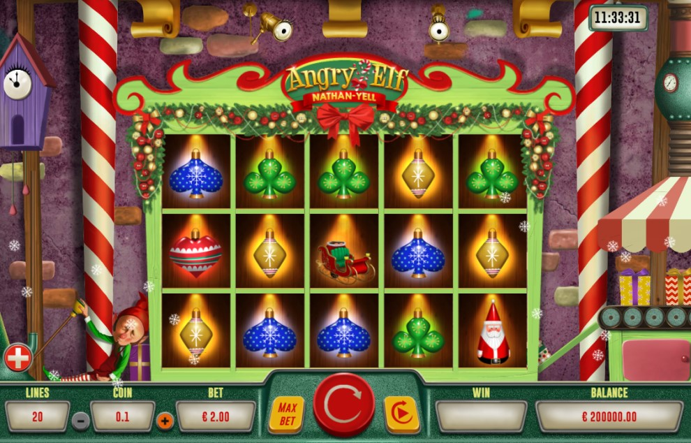 Angry Elf slot reels by Gaming Corps