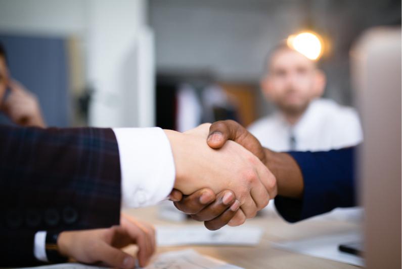 businessperson handshake