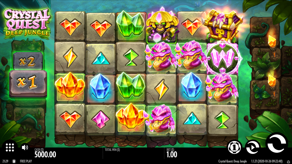 Crystal Quest Deep Jungle Screenshot