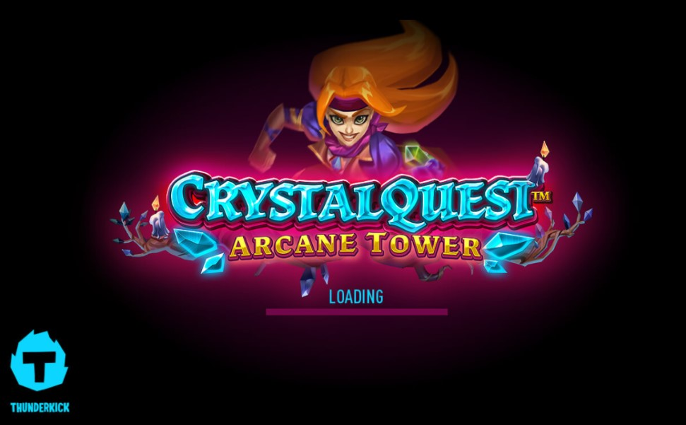 Crystal Quest Arcane Tower slot title by Thunderkick