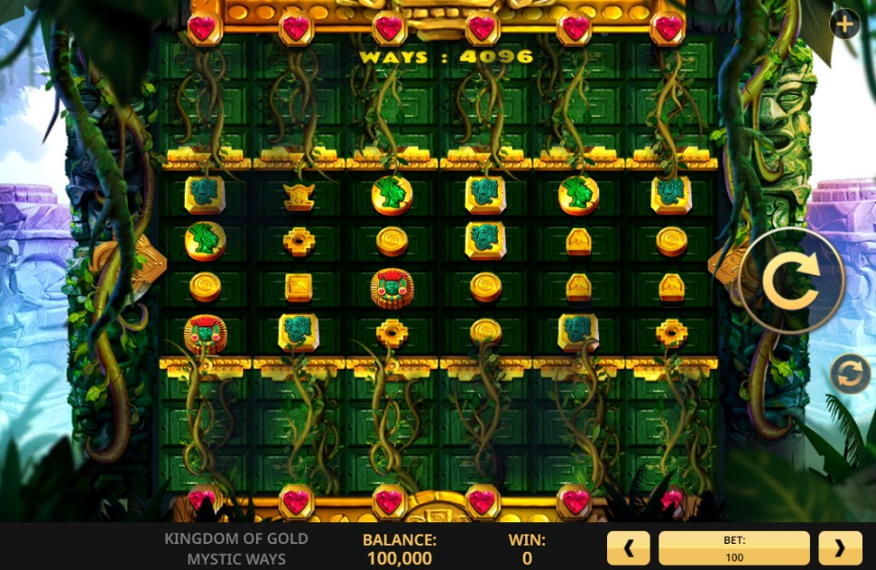 Kingdom of Gold Mystic Ways slot reels by High 5 Games