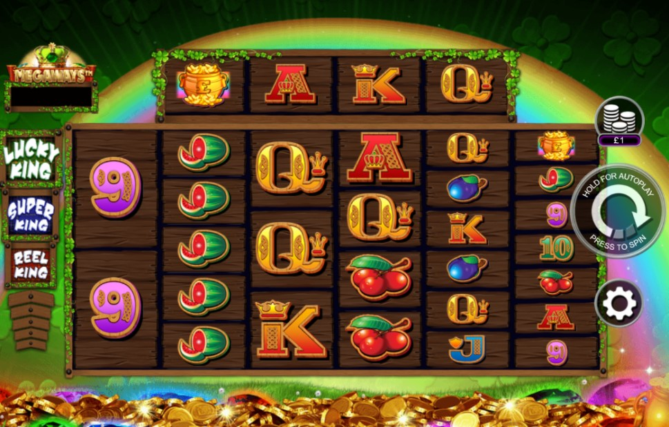 Reel Lucky King Megaways slot reels by Inspired Gaming