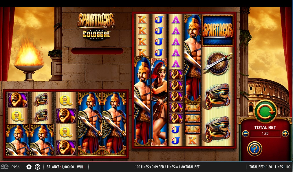 Spartacus Super Colossal Reels slot by WMS
