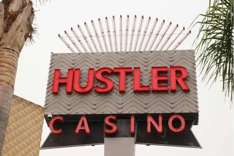 Hustler Casino sign