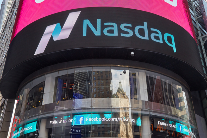 Exterior of NASDAQ in Times Square