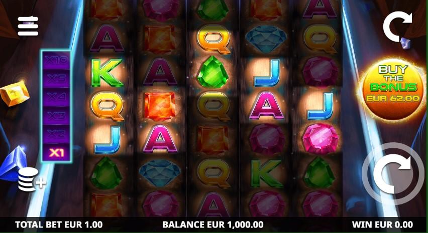 Diamond Blast Zone slot reels by Leander Games