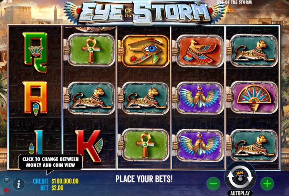 Eye of the Storm slot reels by Pragmatic Play
