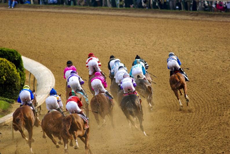 Dirt track horse race