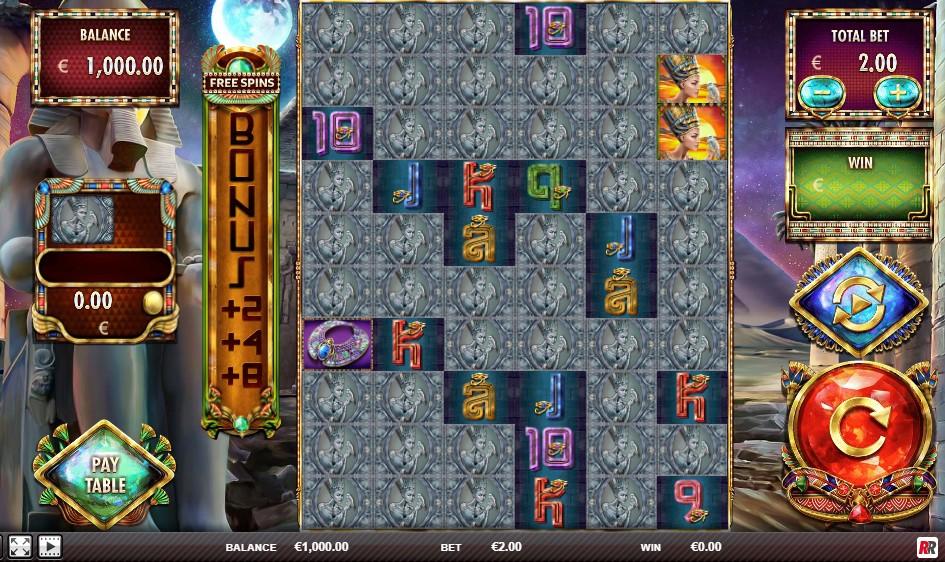 Nefertiti's Riches slot reels by Red Rake Gaming