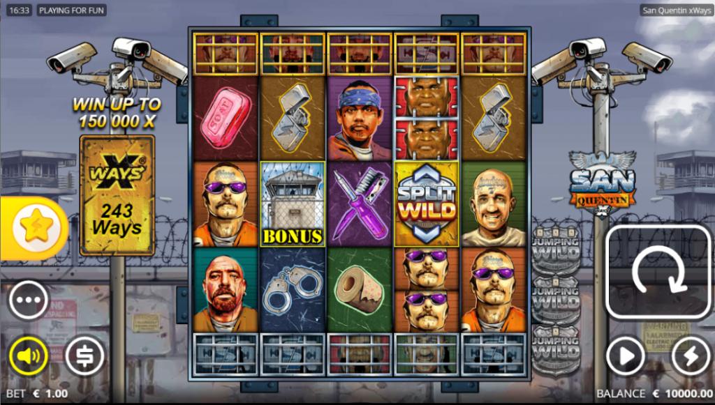 San Quentin xWays slot reels by Nolimit City