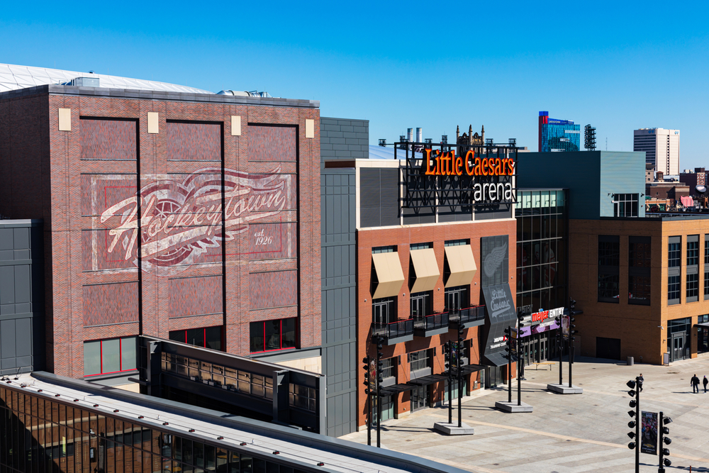 Little Caesars Arena, home of the Detroit Red Wings, in Michigan