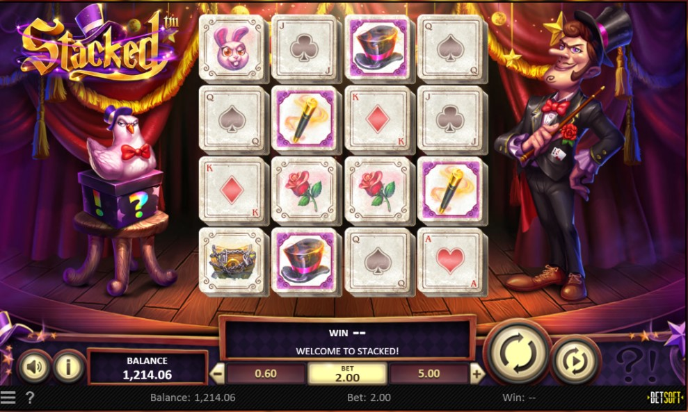 Stacked online slot reels by BetSoft