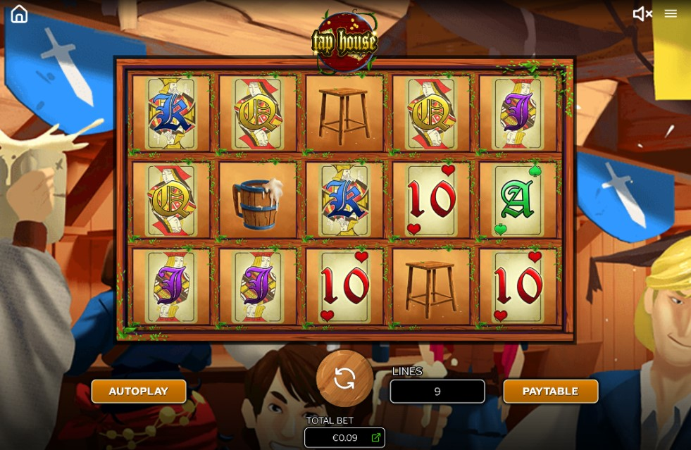 Taphouse slot reels by Arcadem