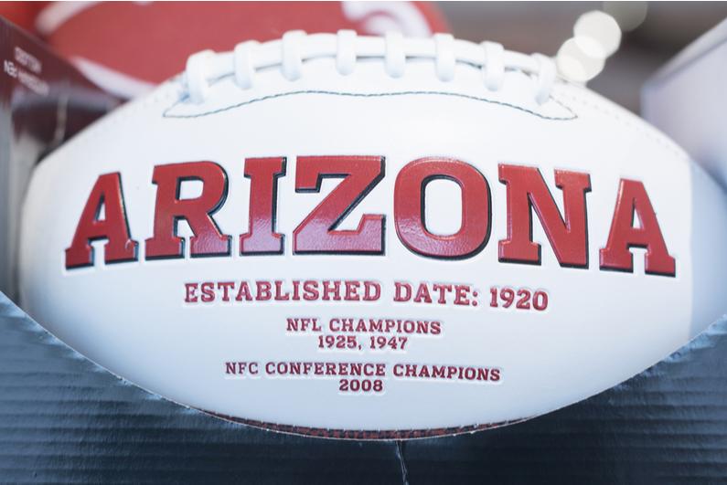 Arizona Cardinals football listing the team's championship dates