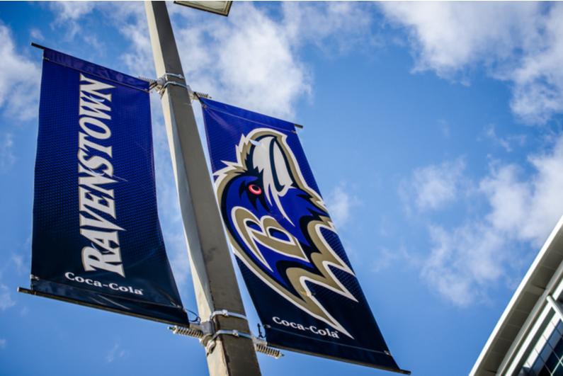 Baltimore Ravens banners