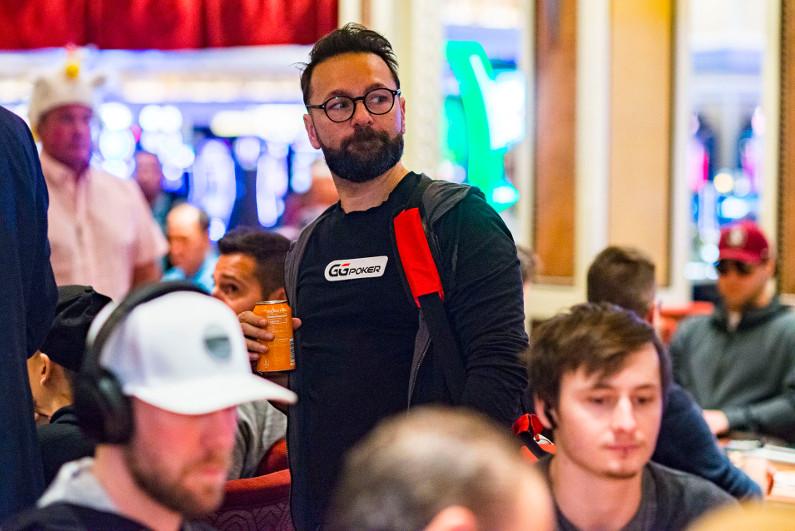 Daniel Negreanu leaving a poker tournament