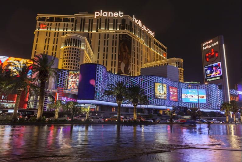 Planet Hollywood Las Vegas at night