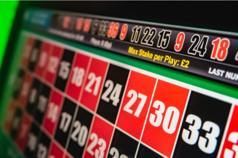 UK fixed odds betting terminal
