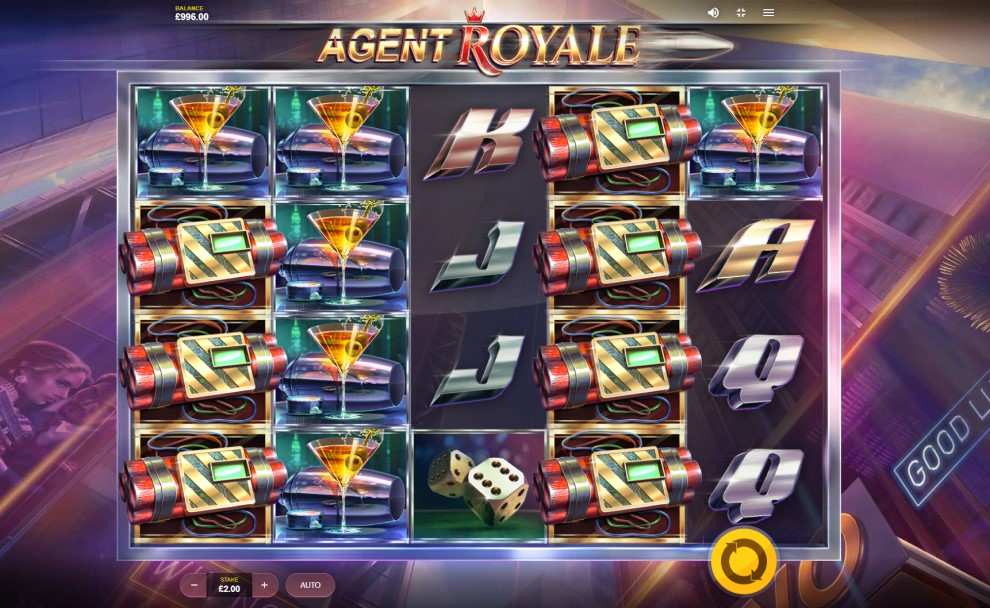 Agent Royale slot reels by Red Tiger