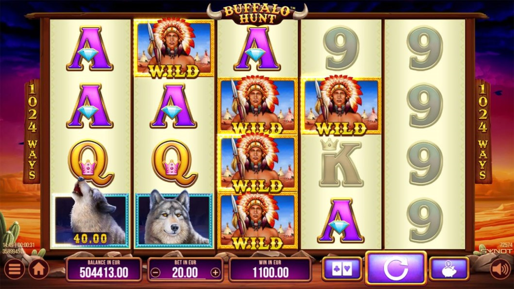 Buffalo Hunt slot reels by SYNOT Games