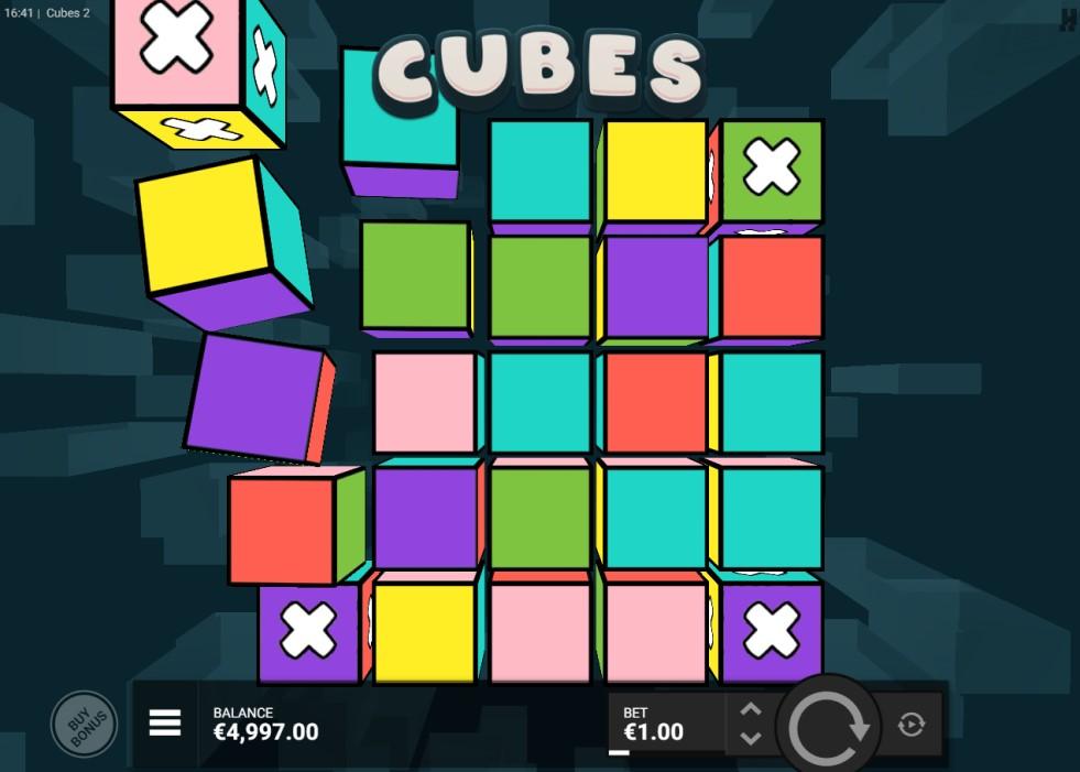 Cubes 2 slot reels by Hacksaw Gaming