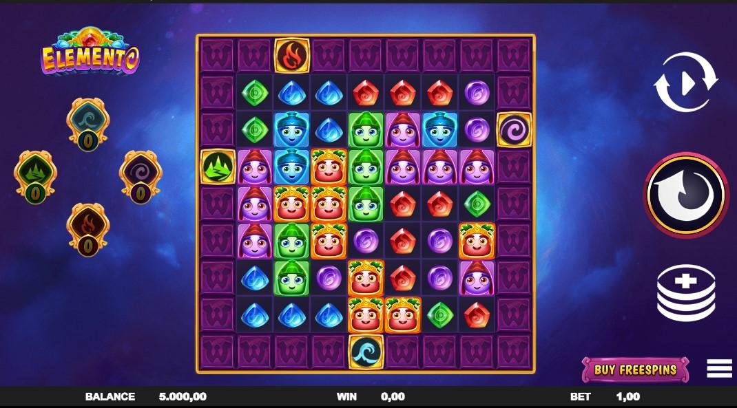 Elemento slot reels by Fantasma Games