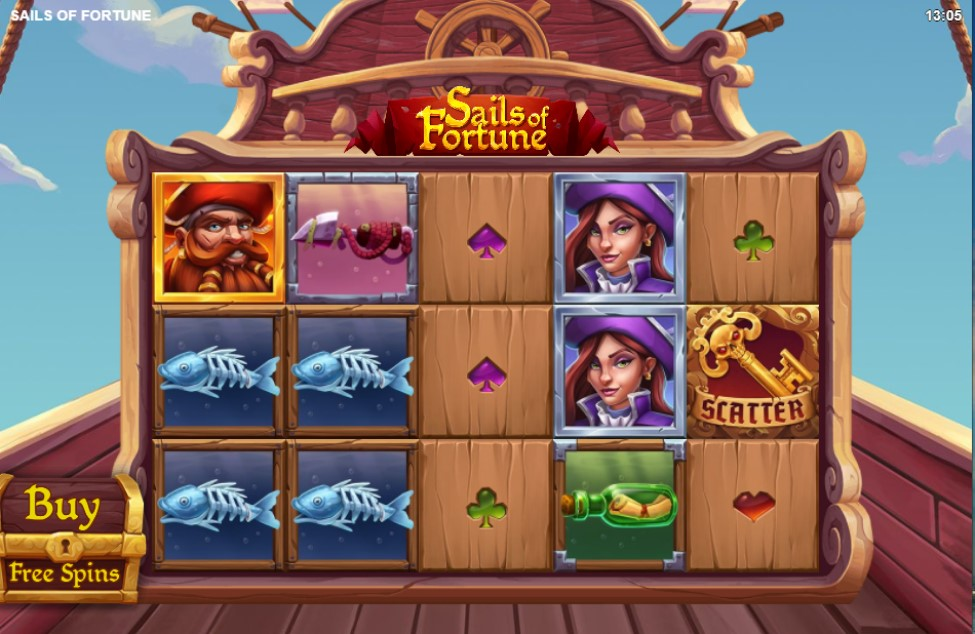 Sails of Fortune slot reels by Relax Gaming