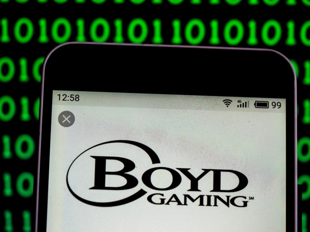 Boyd Gaming logo on smartphone