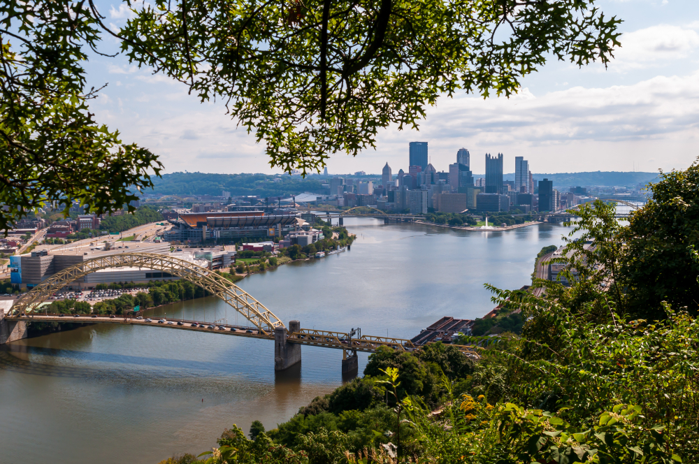 View of the river in Pittsburgh, Pennsylvania
