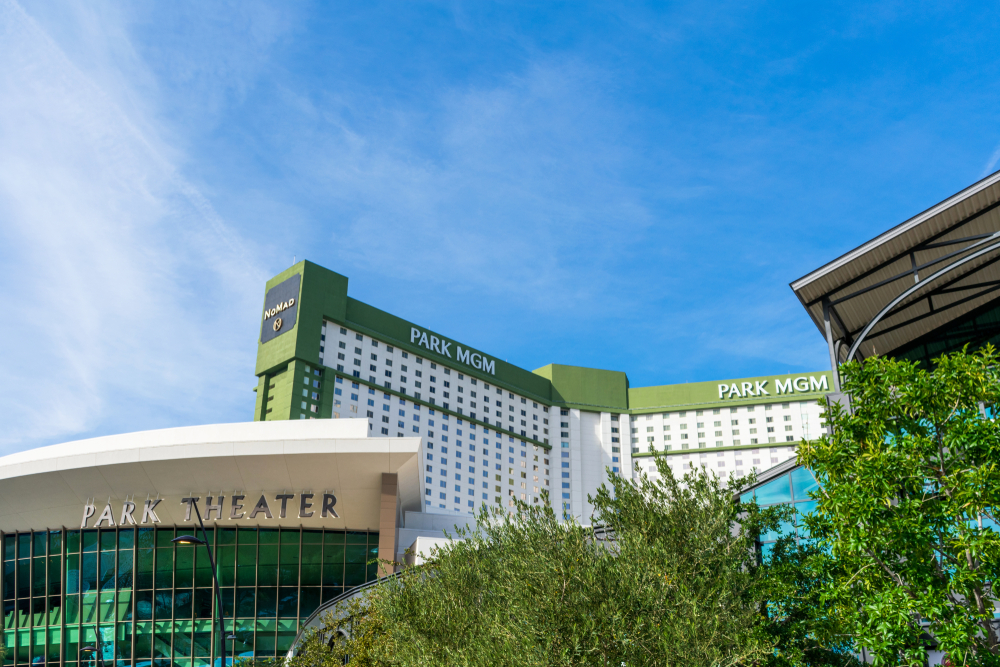 Park MGM building in Las Vegas