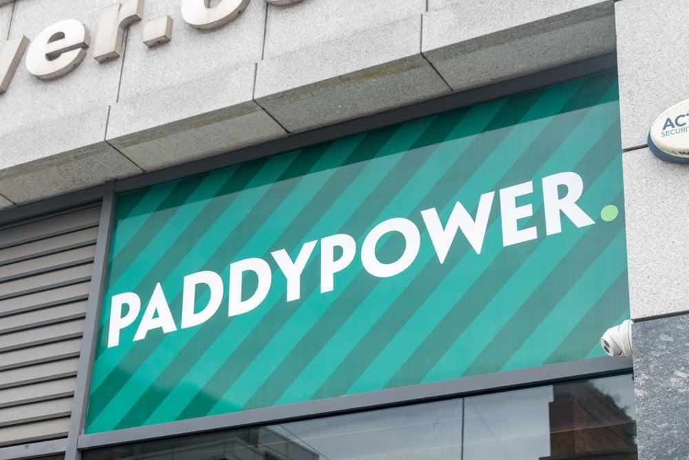 Paddy Power sign in Dublin, Ireland
