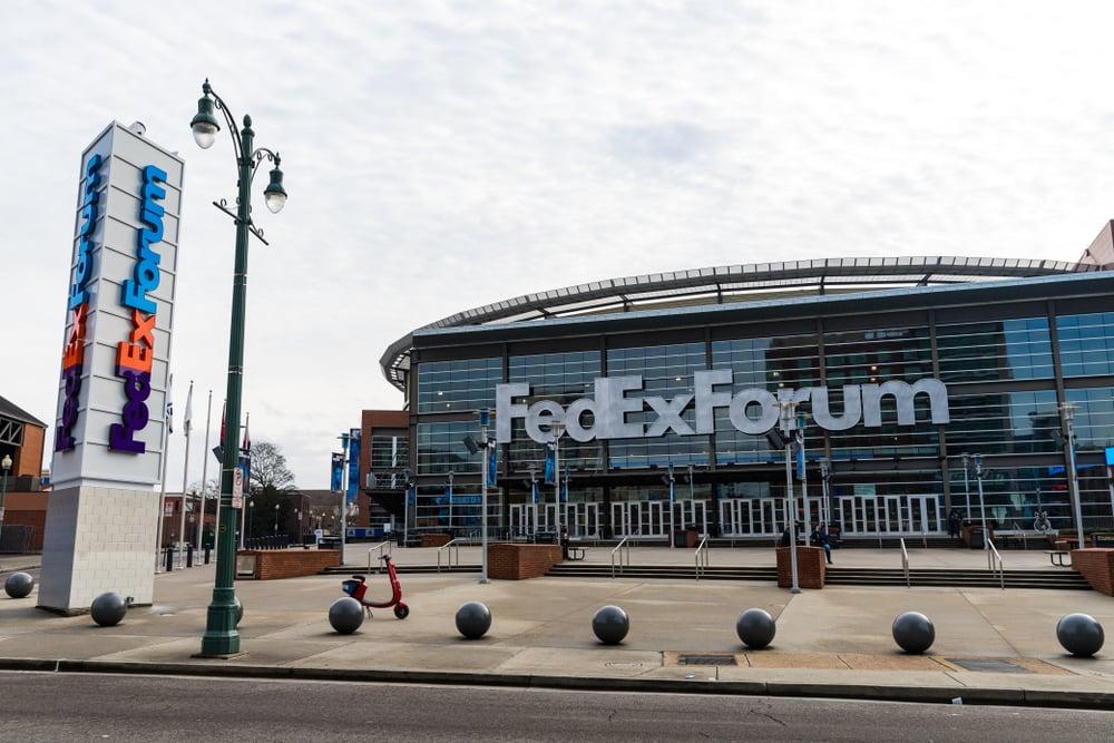 FedEx forum stadium in Tennessee