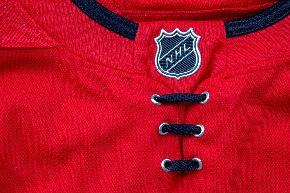 NHL logo on shirt