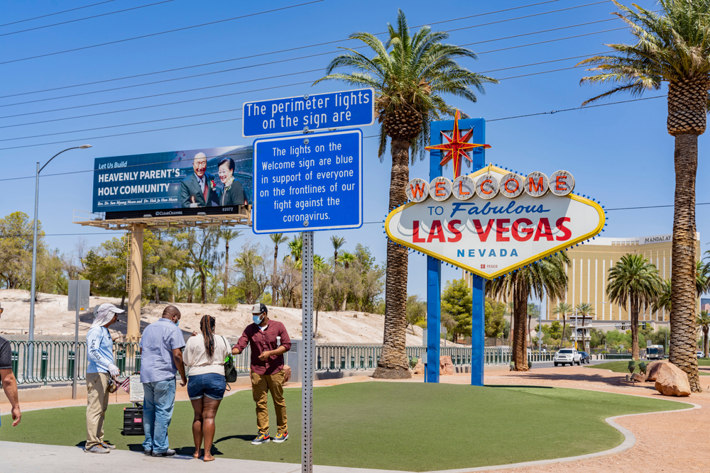 The Welcome to Las Vegas sign in Nevada