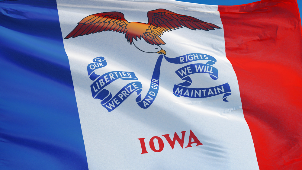 The flag of the state of Iowa