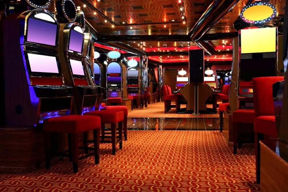 empty gaming floor inside a casino