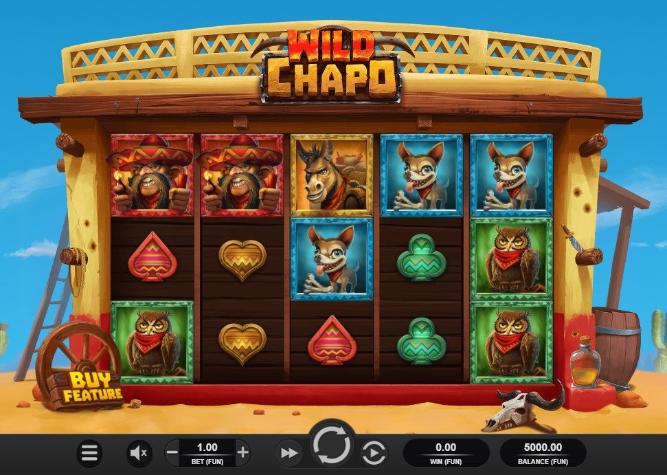 Wild Chapo slot reels by Relax Gaming