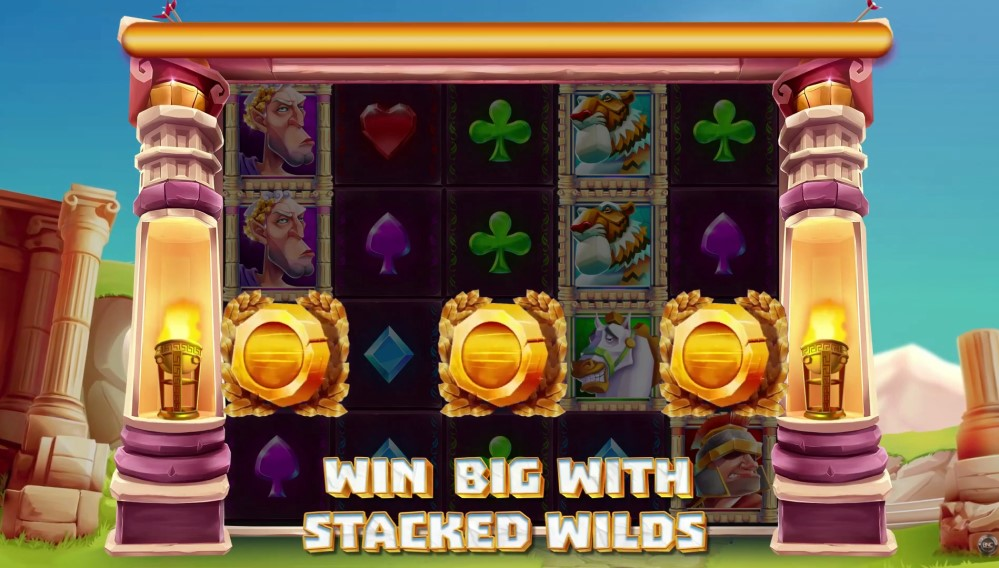 Win in Rome slot reels by Live 5 Gaming
