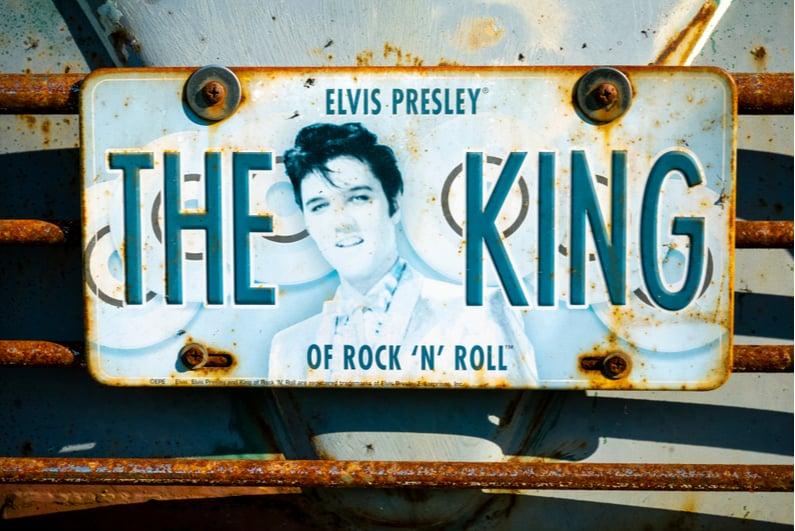 Elvis Presley License Plate