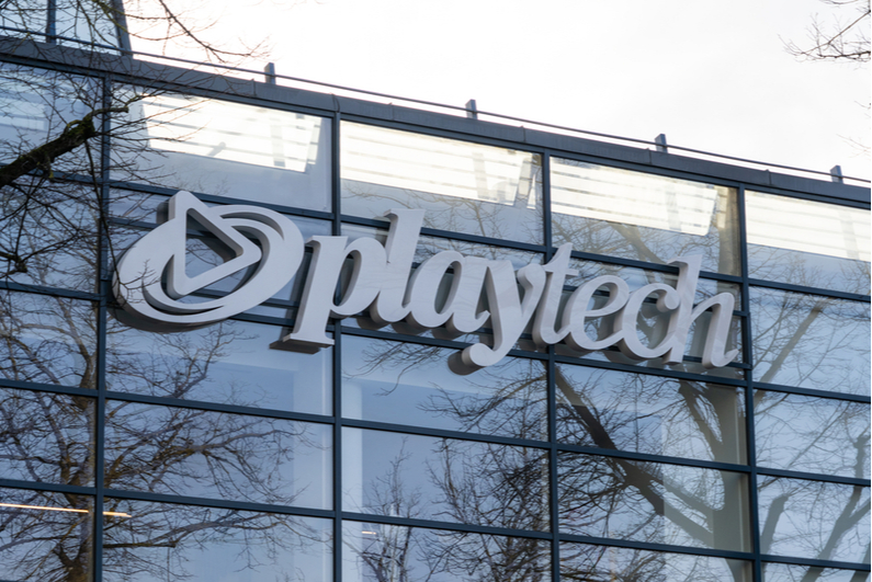 Playtech logo on an office building