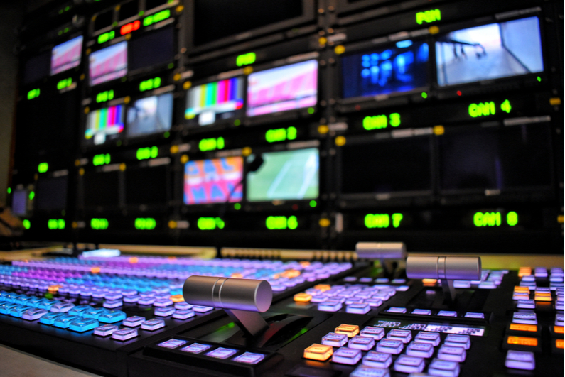 TV broadcast control room