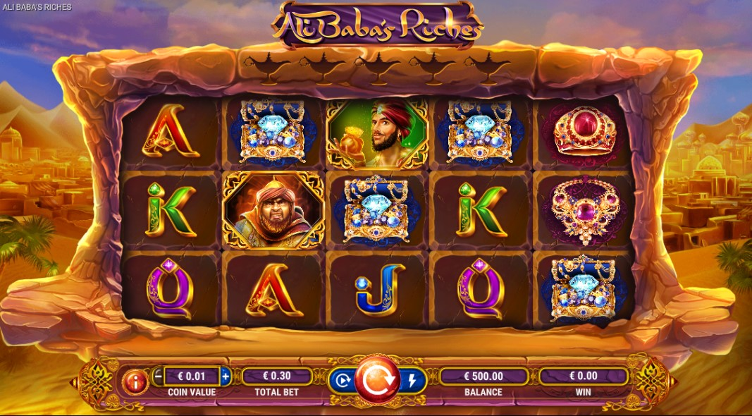 Ali Baba's Riches slot reels by GameArt