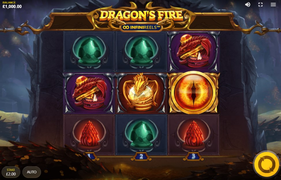 Dragon's Fire: InfiniReels slot reels by Red Tiger