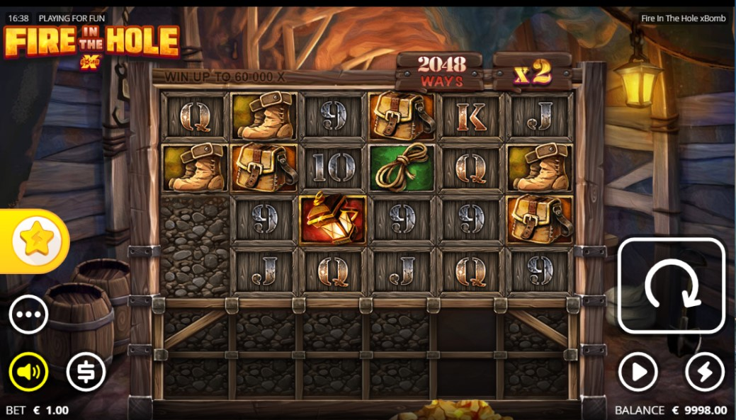 Fire in the Hole xBomb slot by Nolimit City