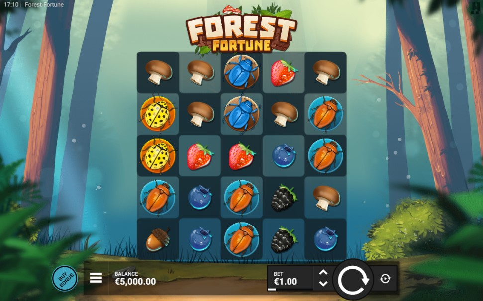 Forest Fortune slot reels by Hacksaw Gaming