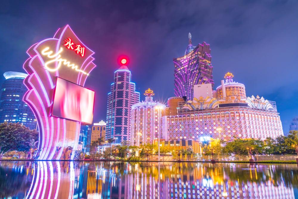 View of Macau's skyline at night