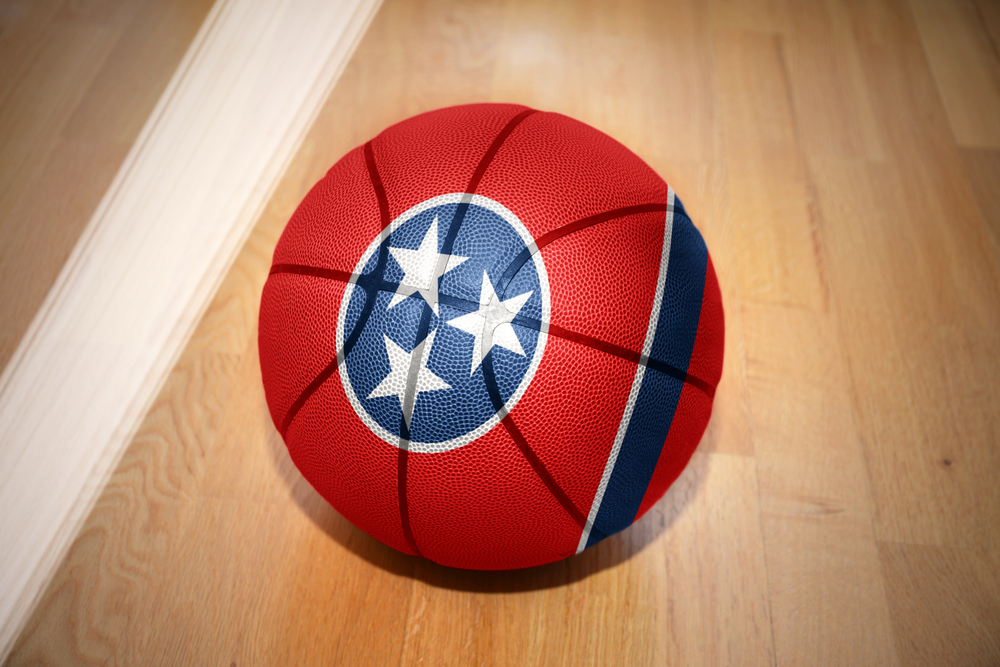 basketball with print of Tennessee flag