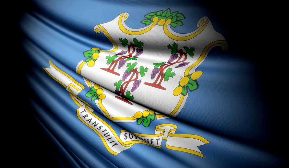 A close up of the Connecticut flag